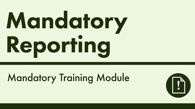Image for Mandatory Reporting