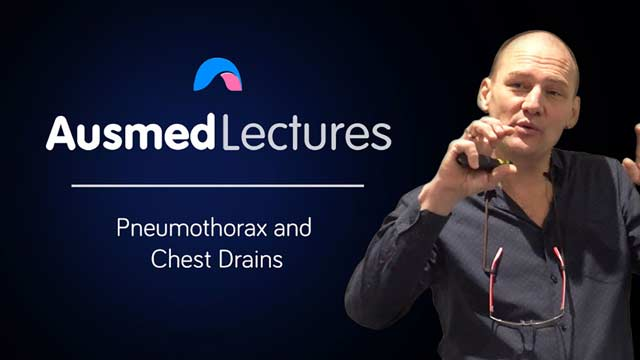 Cover image for lecture: Pneumothorax and Chest Drains
