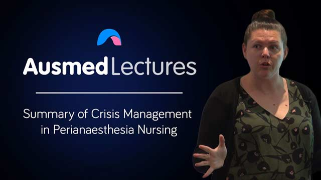 Cover image for lecture: Crisis Management in Perianaesthesia Nursing