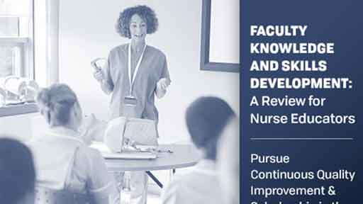 Image for Faculty Knowledge Skills Development: Pursue Continuous Quality Improvement and Scholarship in the Nurse Educator Role