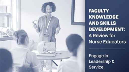 Image for Faculty Knowledge Skills Development: Engage in Leadership and Service